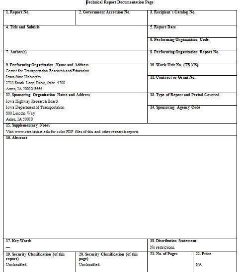 project reports templates