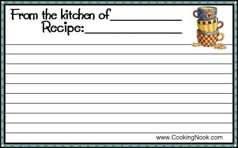 recipe card sample 11.949461