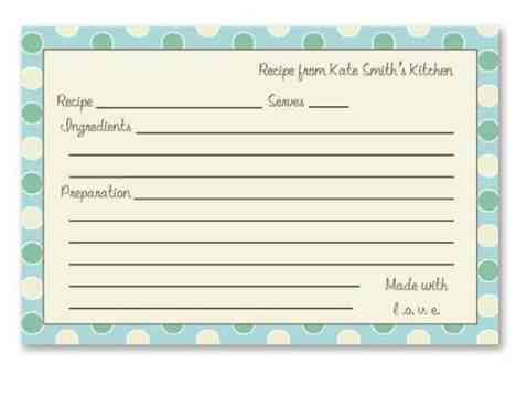 recipe card sample 15.461