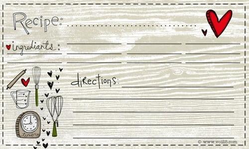 recipe card sample 4941