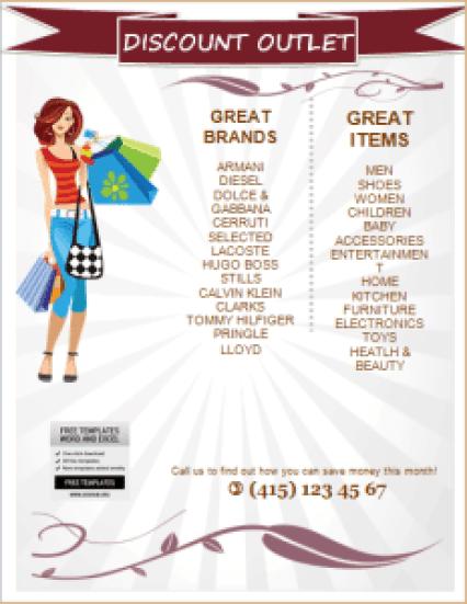 sale flyer template 1241