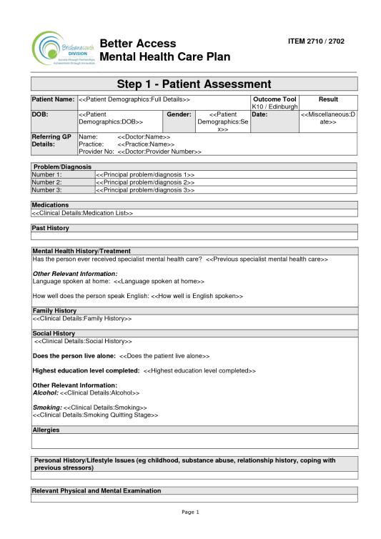 treatment plan example 15.461