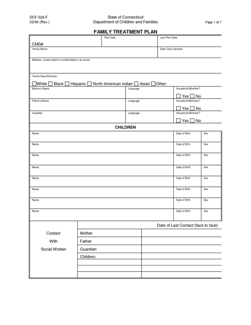 treatment plan example 2461