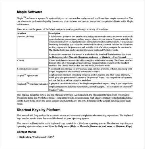 21+ Free User Manual Template