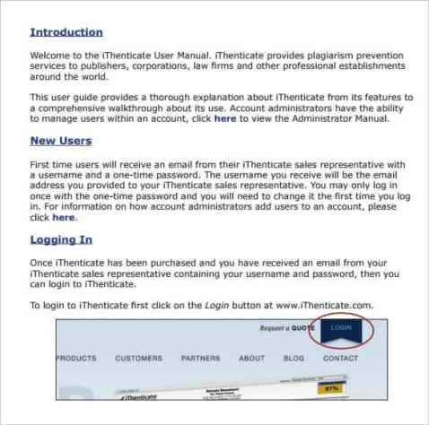user manual sample 18.41