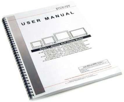 user manual sample 19.61