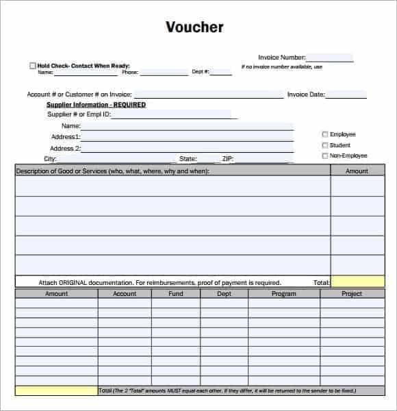 Voucher Template 6941  Payment Coupon Template