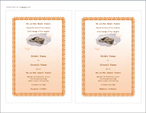 wedding invitation template 4941