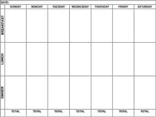 weekly schedule sample 12.641