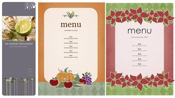 Free Restaurant Menu Sample 69641  Menu Templates Microsoft Word