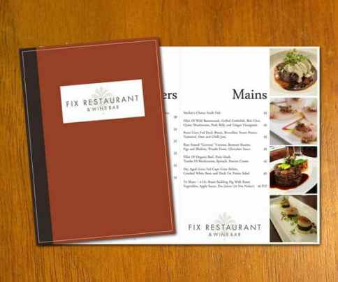 Free Restaurant Menu sample 8941