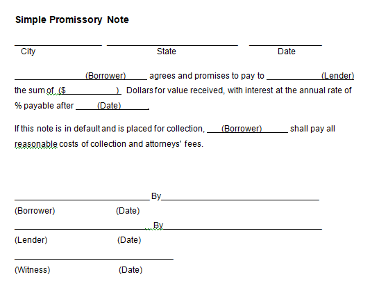 21 Free Promissory Note Template Word Excel Formats – Promissory Note Template Free Download