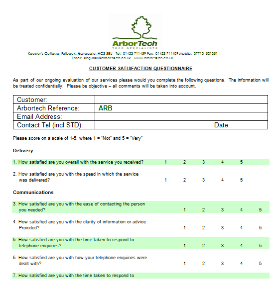 poll template for word - 21 free satisfaction survey template word excel formats