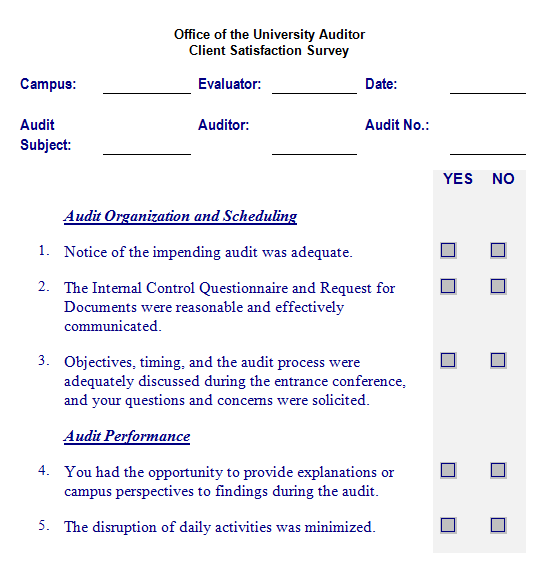 Satisfaction Survey Template 2461 Download