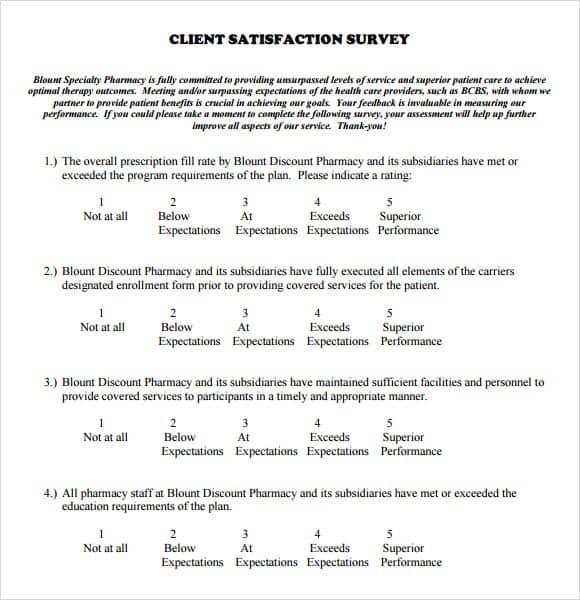 Satisfaction Survey Sample 11.41