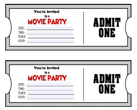 Ticket Invitation Template 141