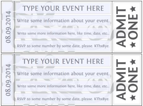 Ticket Invitation Template 5461
