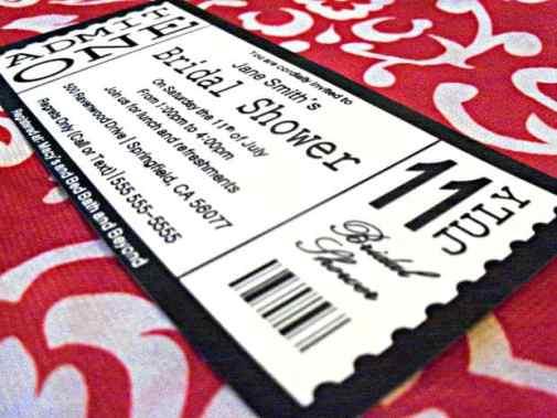 Ticket Invitation sample 5461