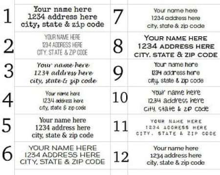 address label sample 10.4