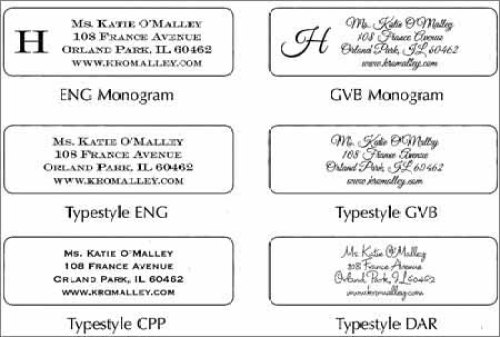 address label sample 941