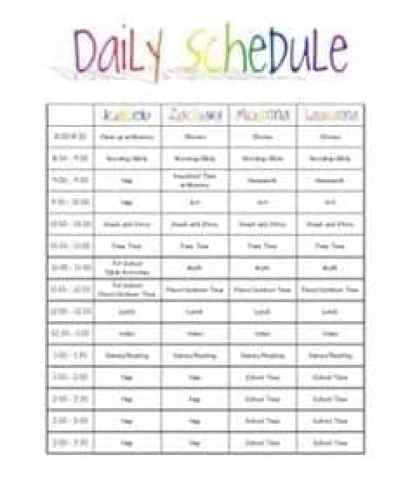 daily schedual