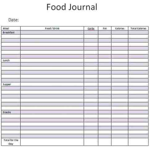 food journal sample 5941