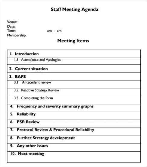meeting agenda sample 10.6541