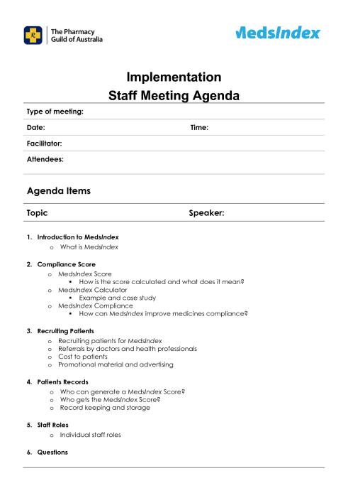 meeting agenda sample 941