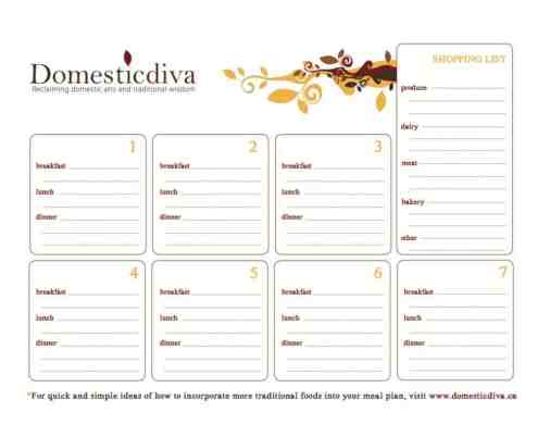 menu planner sample 10.461