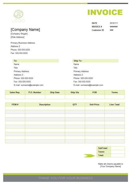 sales invoice sample 441