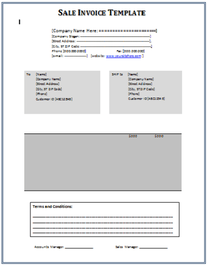 sales invoice template 641