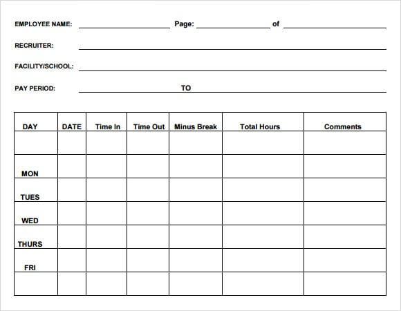 time sheet sample 14.41