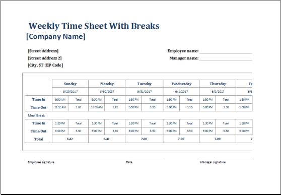 time sheet sample 541
