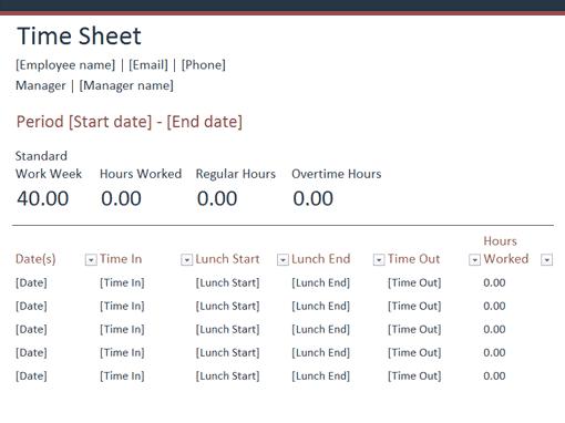 time sheet sample 841