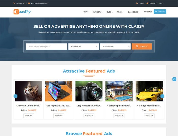 Classified ads archives themes plugins html templates from classify multi purpose template maxwellsz