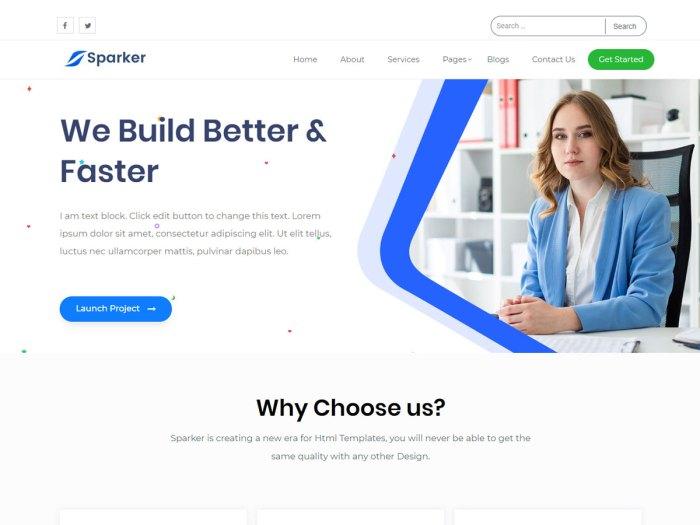 Sparker Elementor WordPress theme