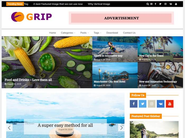 Free WordPress Magazine Theme for News and Blog Website