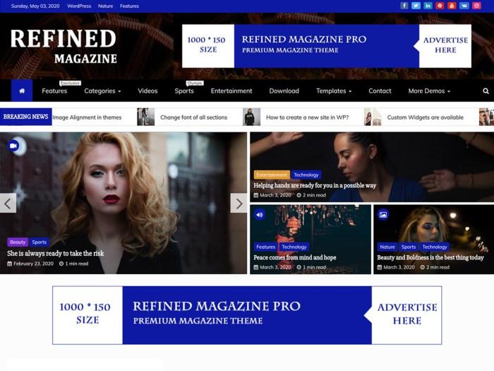 free magazine theme