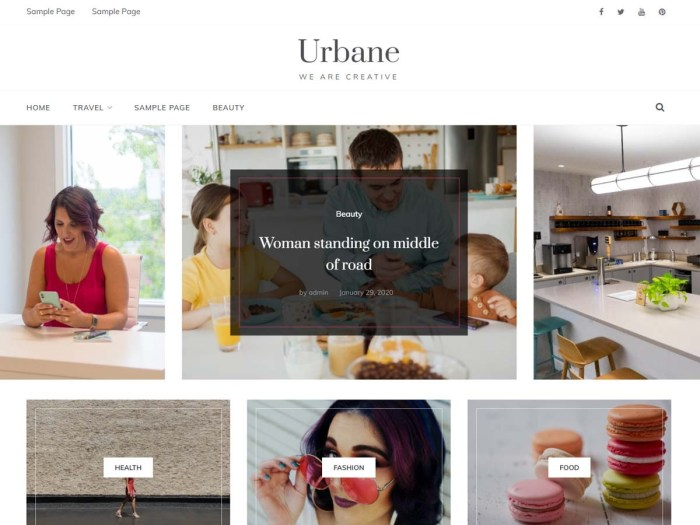Urbane Masonry Theme for WordPress
