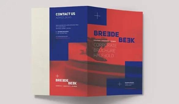 Bi Fold Brochure Templates  346