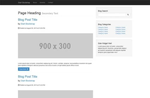 Bootstrap Blog Templates 26
