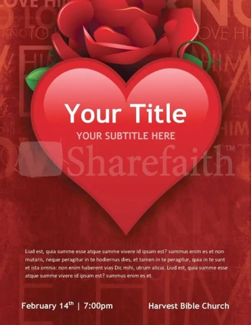 Free Valentine's Day Flyer Templates 4