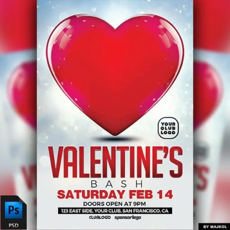 Free Valentine's Day Flyer Templates 6641
