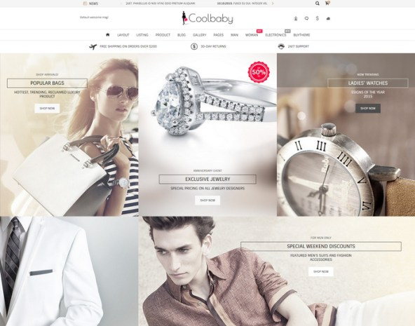 Responsive Ecommerce Website Templates Free 10.