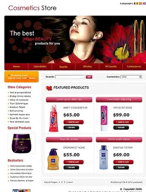 Responsive Ecommerce Website Templates Free 461