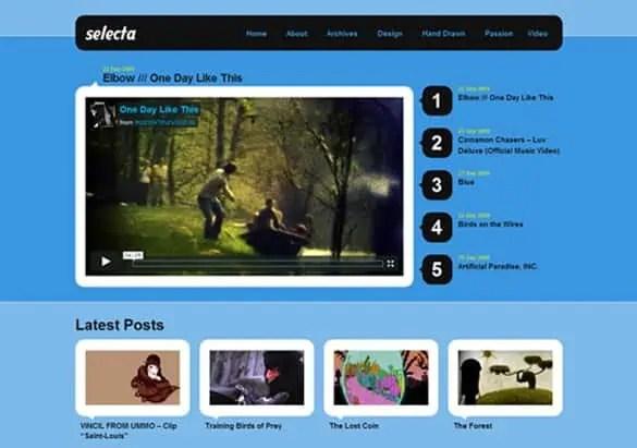 website template video