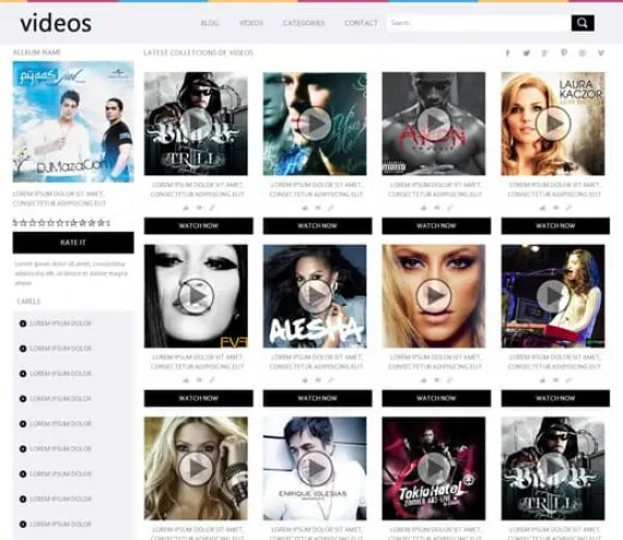 Video Website Templates Free 794