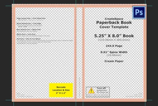 book cover template  9416