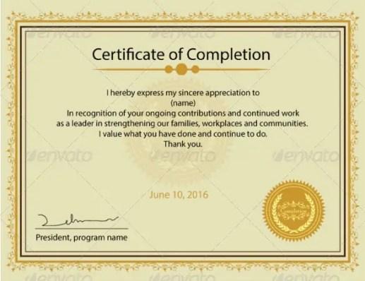 certificate format 10.46