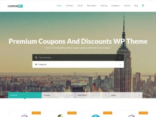 coupon website template 5641
